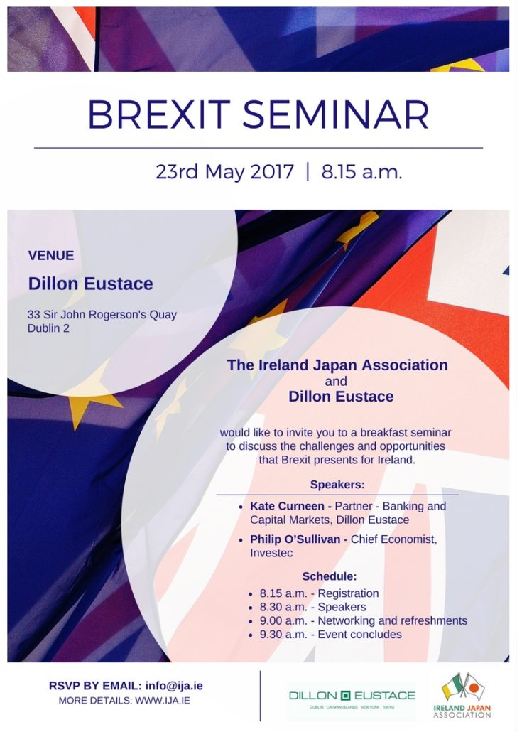 Ireland japan association brexit seminar the ireland japan association and dillon eustace would like to invite you to a breakfast seminar to discuss the opportunities and challenges that brexit thecheapjerseys Gallery